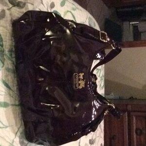 Coach purple patent leather purse